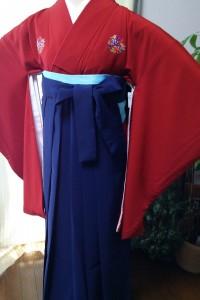 卒業式用袴&花紋着物・赤